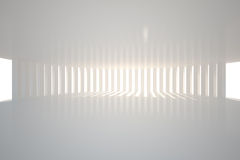 White curved room with light Royalty Free Stock Photos