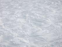 White curves on French ski slopes Stock Photo