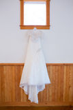 White Custom Wedding Dress Royalty Free Stock Images