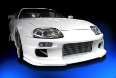 White customized car Royalty Free Stock Images