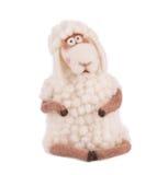 White cute lamb. Royalty Free Stock Photos