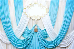 White and cyans curtain backdrop background Royalty Free Stock Photography