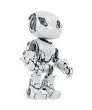 White cyborg. Cool futuristic white toy robot Stock Images