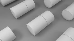 White cylinder blank packaging mockup isolated 3d render. Nice white cylinder blank packaging mockup isolated 3d render Stock Image