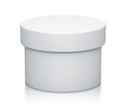 White cylinder box. Stock Photo