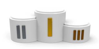 White cylinder podium roman Stock Image
