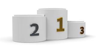 White cylinder podium  4 Stock Photography