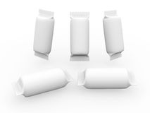 White cylinder wrap packet with clipping path Royalty Free Stock Photo