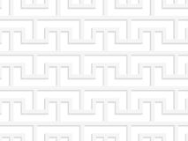 White 3D bracket grid. Seamless geometric background. Modern monochrome 3D texture. Pattern with realistic shadow and cut out of paper effect Royalty Free Stock Images