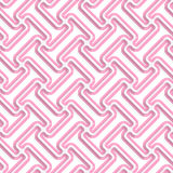 White 3D with colors diagonal T rounded shapes with pink Royalty Free Stock Photos