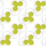 White 3D with colors green clubs Royalty Free Stock Photo