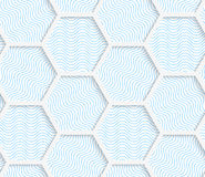 White 3D with colors hexagonal grid Stock Photo