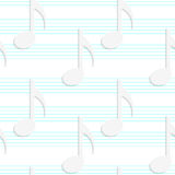 White 3D with colors music notes on blue stripes Stock Photography