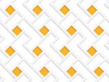White 3D with colors orange squares Royalty Free Stock Images