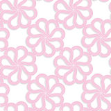 White 3D with colors pink flowers Royalty Free Stock Image
