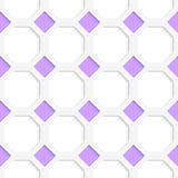 White 3D with colors purple diamonds Stock Image