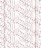 White 3D with colors triangular grid with red Stock Image
