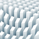White 3d columns, surface diagram Stock Photos