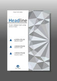 White 3d geometric texture background cover design. A4. Vector. Stock Image