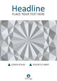 White 3d geometric texture background cover design. A4. Vector. Stock Photos