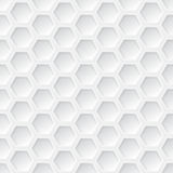 White 3d hexagon seamless pattern Royalty Free Stock Photography