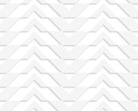 White 3D horizontally striped chevron Royalty Free Stock Images
