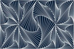 White 3d line in Blue Dark Background. For wall decoration stock illustration