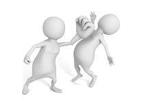 White 3d Man Punch Opponent Knockout Royalty Free Stock Photography