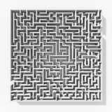 White 3d maze structure Stock Photo