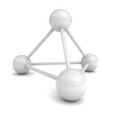 White 3d molecular structure model. Over white background Royalty Free Stock Image