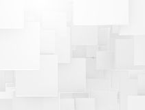 White 3d overlapping squares Stock Photo