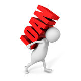 White 3d person carry red word Stock Images