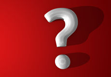 White 3d question mark Royalty Free Stock Photos