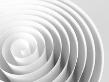 White 3d spiral made of paper tape. With soft shadows, abstract digital illustration, background pattern Royalty Free Stock Image