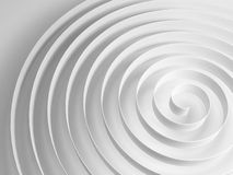 White 3d spiral with soft gray shadow, abstract shape. White 3d spiral with soft gray shadow, abstract digital illustration, background pattern Stock Illustration