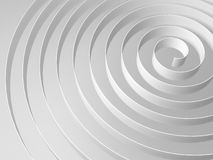 White 3d spiral with soft shadows, digital illustration Royalty Free Stock Image