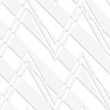 White 3D striped zigzag Royalty Free Stock Photos