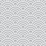 White 3d wave seamless pattern. White abstract 3d wave seamless pattern on gray background, vector illustration Royalty Free Stock Photography