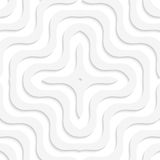 White 3D wavy cross Royalty Free Stock Images