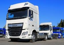 White DAF XF Euro6 Truck Stock Photo