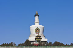 White dagoba in Beihai Park of Beijing Stock Image