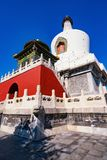 White dagoba in Beihai Park royalty free stock photo