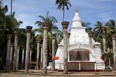 White dagoba in Mihintale Royalty Free Stock Photos