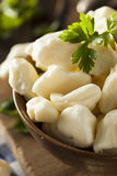 White Dairy Cheese Curds Stock Photo