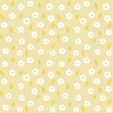 White Daisies And Wheat. Seamless little white daisies and ripe wheat ears pattern on light background Royalty Free Stock Photography