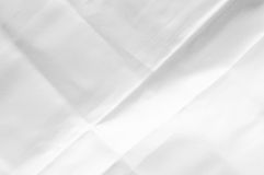 White damask cloth napkin, close up Royalty Free Stock Image