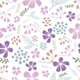 White Dancing Flowers Seamless Pattern royalty free illustration