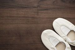 White dancing shoes Royalty Free Stock Photos