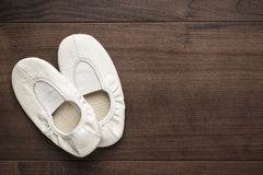White dancing shoes Stock Photography