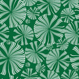 White dandelions flowers seamless pattern royalty free illustration